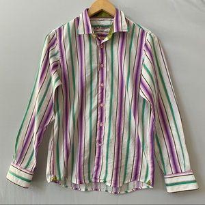 Robert Graham striped women's shirt size M